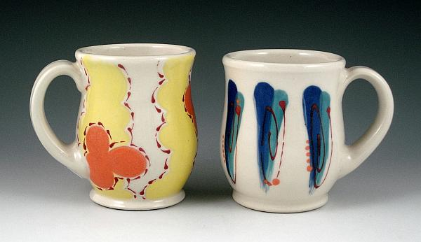 Porcelain Mugs by Kelsey Nagy.