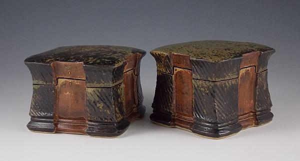 Small Ash Glazed Keepsake Boxes by Eric Botbyl, 2013