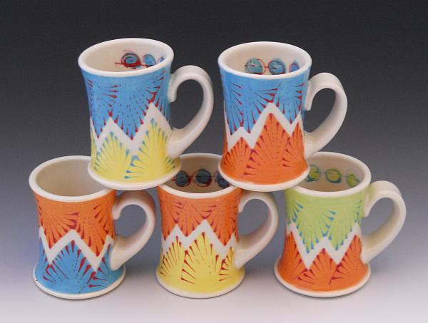 Porcelain Coffee Mugs by Kelsey Nagy. Companion Gallery, 2013