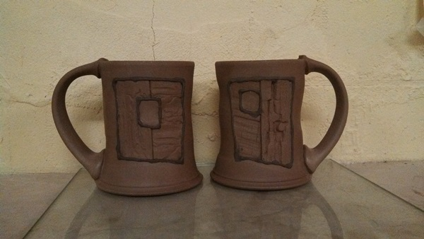 Works in progress...Barn Wood Mugs