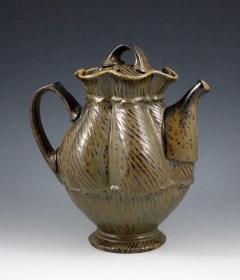 Ash Glazed Teapot. Eric Botbyl, Humboldt, TN