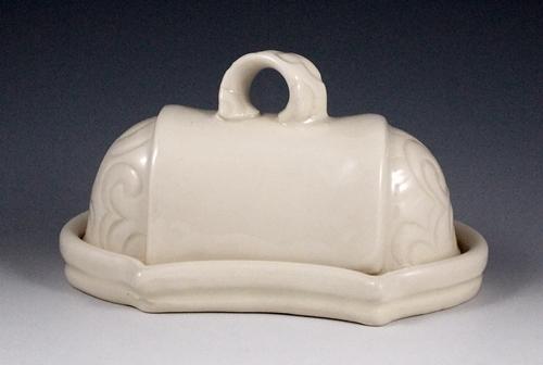 Carved Porcelain Butter Dish. Kelsey Nagy, Jackson TN